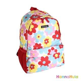 【日本Hanna Hula】輕量型後背包-內襯防潑水(花樣紅)