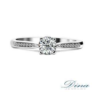 【DINA JEWERLY蒂娜珠寶】GIA0.30克拉Fcolor 鑽石戒指(巴洛克 系列)
