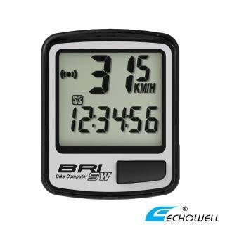 【ECHOWELL】BRI-9W 多功能自行車無線碼錶(銀)