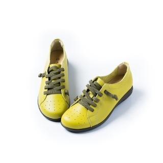 【ALAIN DELON】MIT手工真皮女休閒鞋W7316(2色  桃色  綠色)