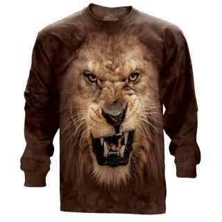 【摩達客】美國進口The Mountain 獅吼臉 純棉長袖T恤(預購)