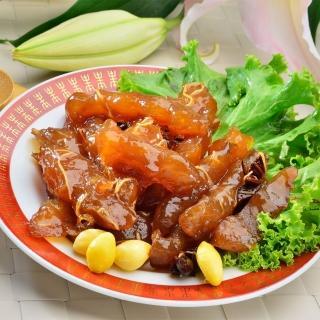 【鮮食家任選799】南門市場老林記素食齋菜紅燒素蹄筋(600g/份)