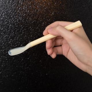 【樂活動】Pastel 輔助餐具 防滑型粉彩湯匙(粉黃S)