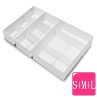 【WallyFun】抽屜收納整理盒3入(S+M+L)