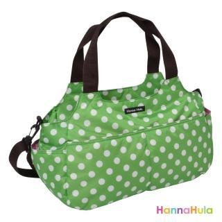 【日本Hanna Hula】棉花糖二用媽媽包/空氣包(圓點綠)