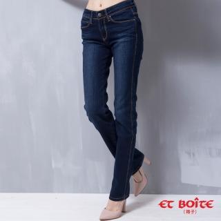 【ET BOiTE 箱子】中腰彈性直筒牛仔褲