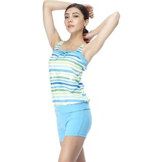 【SARBIS】MIT泡湯SPA大女兩截式泳裝(附泳帽B92430)