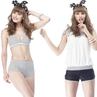 【SARBIS】MIT大女比基尼四件式泳裝(附泳帽B94205)