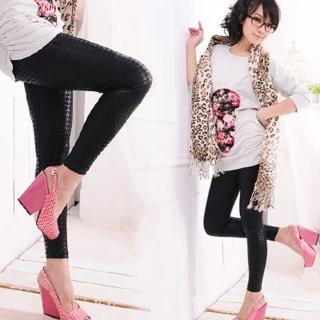 【Lady c.c】新款百搭流行千鳥格紋內搭褲