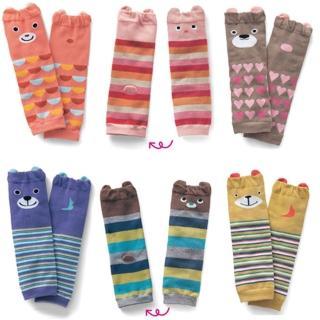 寶寶純棉保暖動物造型護膝襪套(三雙入)