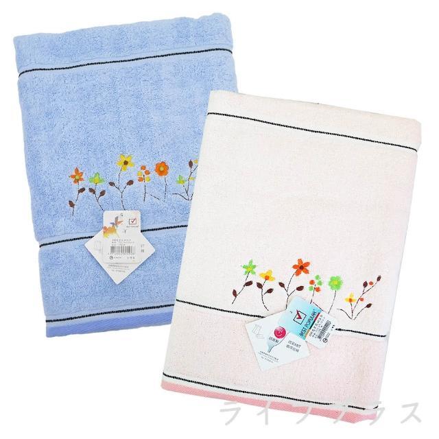 亮星花田浴巾-490-2入