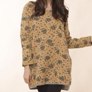 【雪莉亞】超保暖中國風亞麻內刷絨毛上衣(繽紛米色.繽紛綠色)
