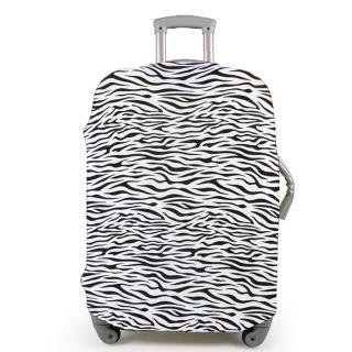 斑馬紋行李箱防塵亮彩保護套(22-26吋適用)