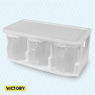 【VICTORY】三格收納調味盒#380ml