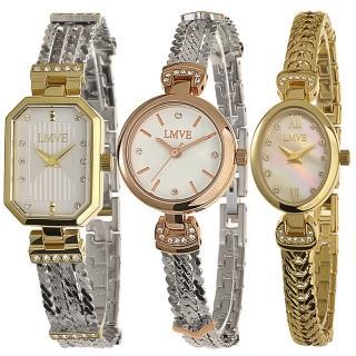 【LMVE】都會質感晶鑽時尚腕錶(3款)
