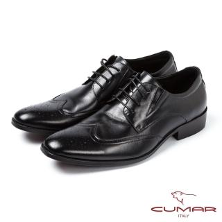 【CUMAR】CUMAR英式經典舒適雕花皮鞋(黑)
