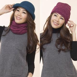 【雪莉亞】素色百搭兩用式圍脖(玫紅色.卡其色.灰色.紫色.咖啡色.黑色)