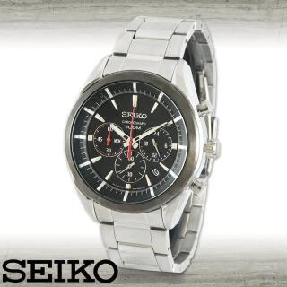 【SEIKO 精工】極速三眼賽車計時腕表(SSB089P1)