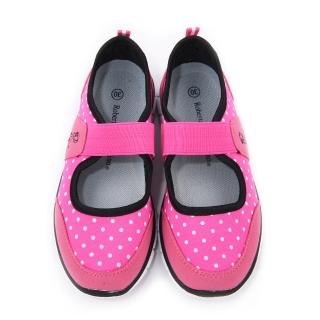 【童鞋城堡】Roberta義大利 大童 超輕量休閒鞋(614922-桃)
