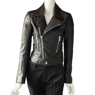 【BALENCIAGA】外皮夾克騎士風外套(黑色)