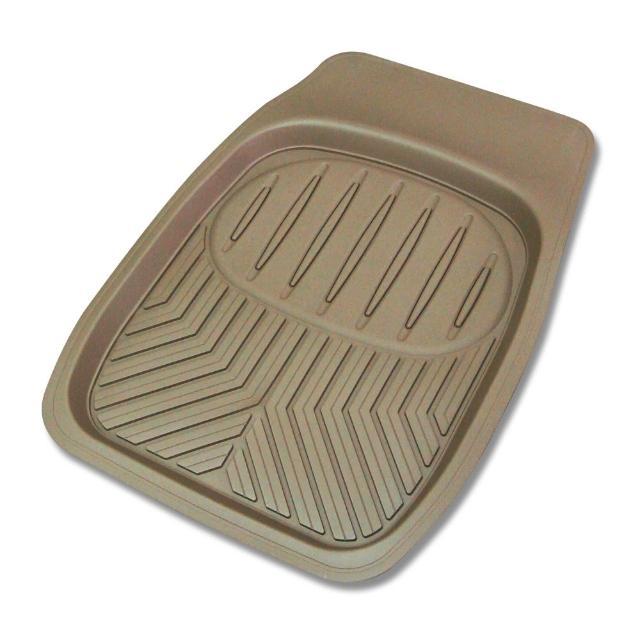 【YARK】行家新款凹型米色前座踏墊(1入)