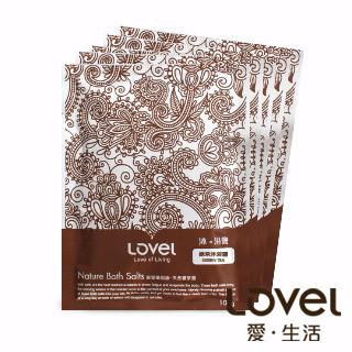 【Lovel】天然井鹽/沐浴鹽旅行包100g五入組盒裝(綠茶)
