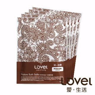 【Lovel】天然井鹽/沐浴鹽旅行包100g五入組盒裝(薰衣草)