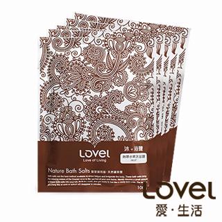 【Lovel】天然井鹽/沐浴鹽旅行包100g五入組盒裝(熱帶水果)