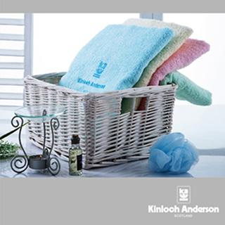【金安德森】素色繡花浴巾組(4色4入每色各1)
