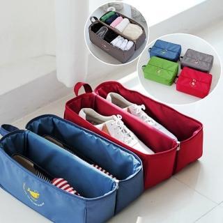 【Bunny】韓款一加一多功能手提防水內衣鞋子收納袋(二入)