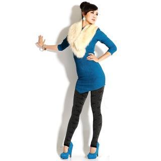 【韓依 HANN.E】台灣製顯瘦版竹炭聚熱立體絨毛保暖雕塑褲(百搭時尚花朵款G83BF)
