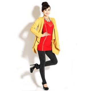 【韓依 HANN.E】台灣製顯瘦版竹炭聚熱立體絨毛保暖雕塑褲(百搭時尚飛翔蜻蜓款G83B2)
