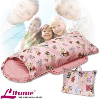 【意都美 Litume】台灣製 PK保溫棉可拆式兒童睡袋.保暖棉化纖睡袋(C1065 粉桔)
