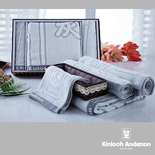 【金安德森】健康竹炭紗系列禮盒(浴巾*1、毛巾*2、方巾*2)