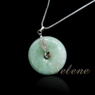 【Selene珠寶】芙蓉種翡翠平安扣(A貨翡翠)