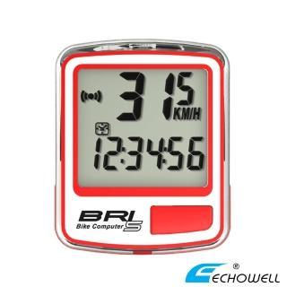 【ECHOWELL】BRI-5 多功能自行車有線碼錶(紅)