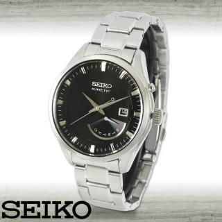 【SEIKO 精工】人動電能不鏽鋼石英男錶(SRN045P1)