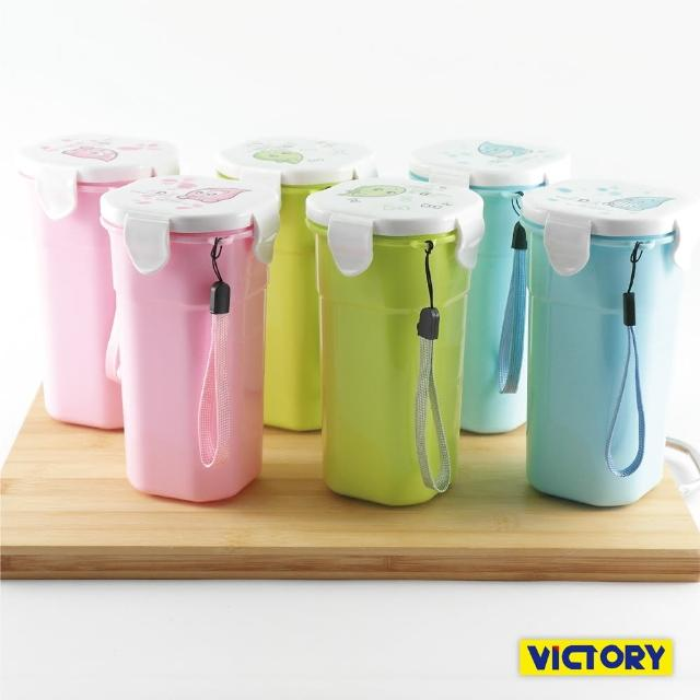 【VICTORY】400ml水之美扣式隨行保溫杯(6入組)