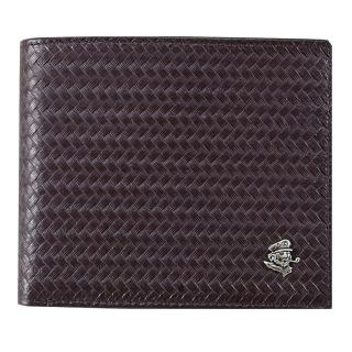 【SINA COVA】老船長編織紋牛皮短皮夾(SC31502-3-深咖啡)