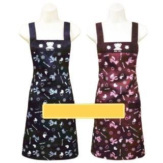 布花熊圍裙-兩口防水-4件入