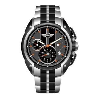 【MINI Swiss】極限超跑三眼計速腕錶(綠+黑-44mm-MINI-26)