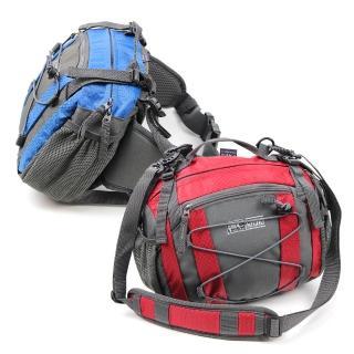 【Rhino 犀牛】健行腰包G350(藍/紅)
