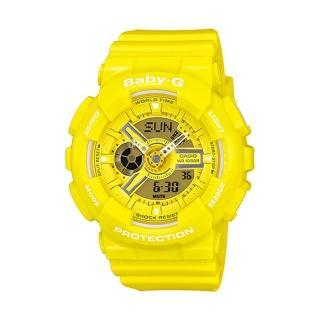 【CASIO 卡西歐】Baby-G 個性活力搶眼指針數位雙顯錶(BA-110BC-9A)