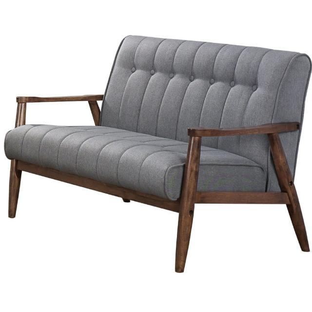 【東京家居】古萊3.7尺胡桃色雙人布沙發