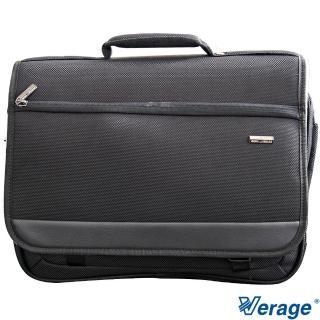 【Verage】16.5吋專業前蓋式電腦公事包(黑)