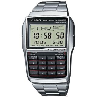 【CASIO 卡西歐】行動祕書電子計算概念錶-銀/50.4mm(DBC-32D-1ADF)
