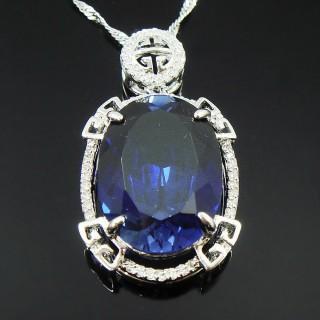 【Celosa珠寶】-誓言藍寶墜鍊