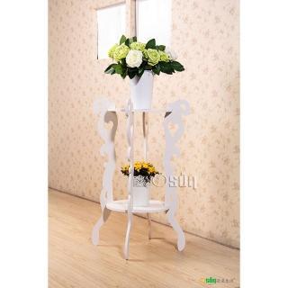【Osun】DIY木塑板 歐式白色雕花圓形花架(CE-178-圓形花架)