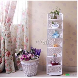 【Osun】DIY木塑板置物架 歐式白色雕花七層巴洛克經典款(CE-178-120ZJ)