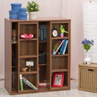 【奧古德】雙排活動矮書櫃(雙色可選)